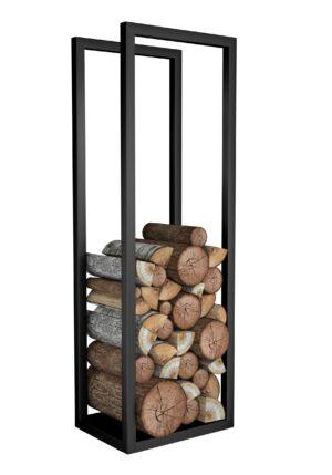 stojak metalowy na drewno kominkowe