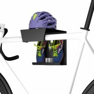 Wieszak rowerowy z półką na kask i buty